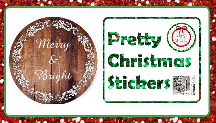adorable christmas stickers time for the holidays