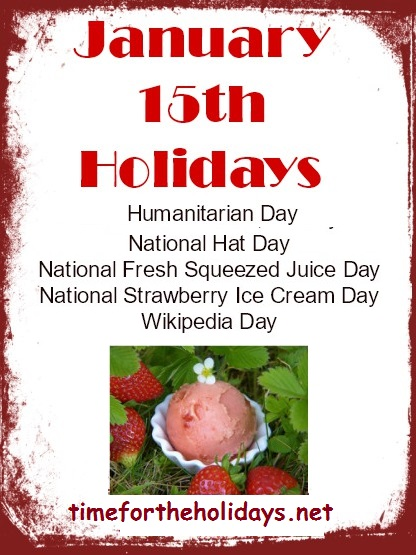 what holiday is on january 15th