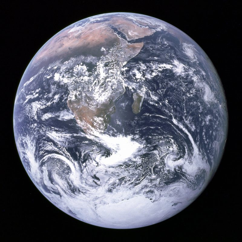 The Earth seen from Apollo 17.jpg The Blue Marble is an image of planet Earth taken on December 7, 1972, by the crew of the Apollo 17