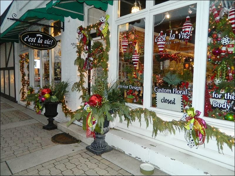 Sylvania lights up for the holidays - Pretty Christmas Storefronts Time For The Holidays