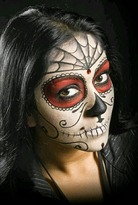 Cool face painting ideas time for the holidays - Cool designs to paint ...