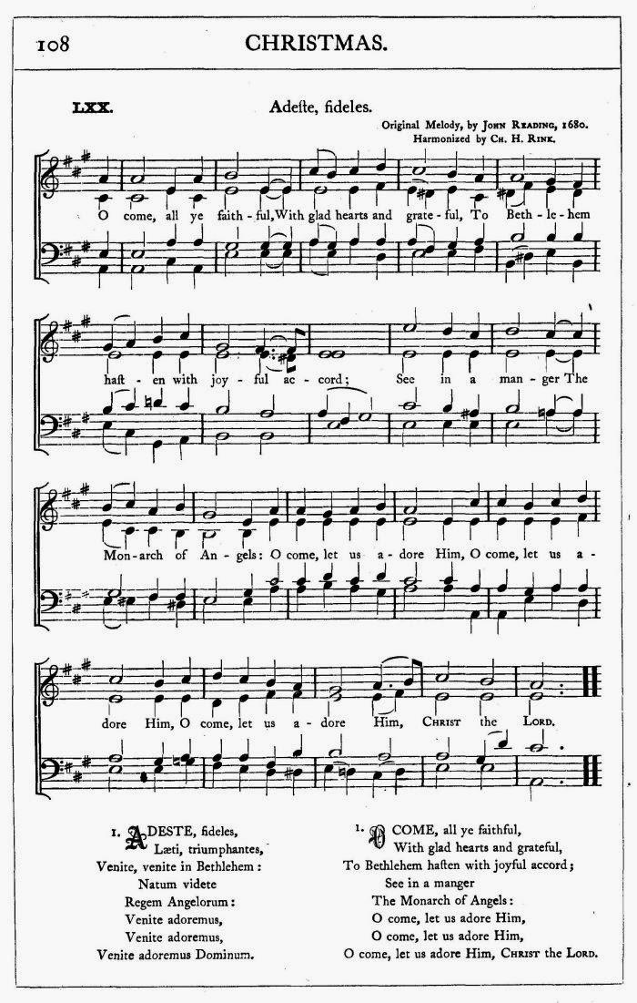 O Come All Ye Faithful Lyrics | Time for the Holidays